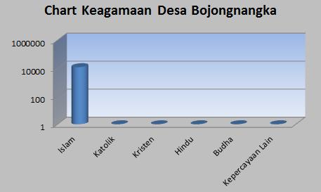 Chart Keagamaan Penduduk Desa Bojongnangka